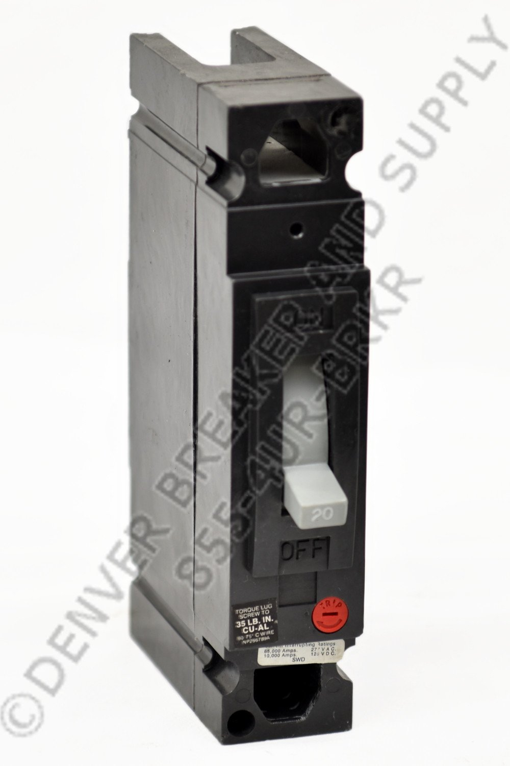 20 Amp 1 Pole Circuit Breaker GE THED113020 NEW